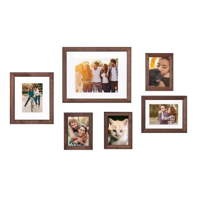 6pc Bordeaux Frame Box Set Brown - Kate & Laurel All Things Decor