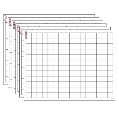"""6pk 17"""" x 22"""" Graphing Grids Wipe-Off Chart - TREND"""
