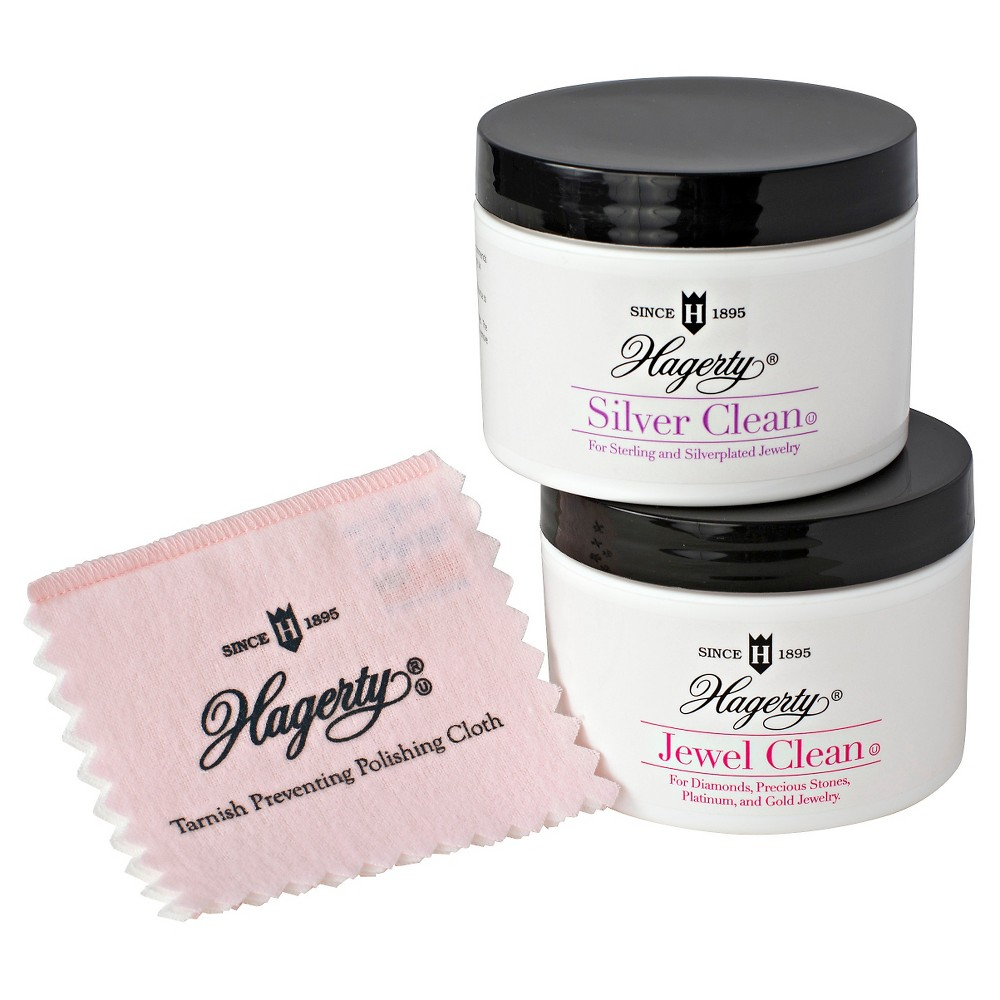 Image of Hagerty Essential 3 Piece Jewelry Care Collection, Gold/White/Silver