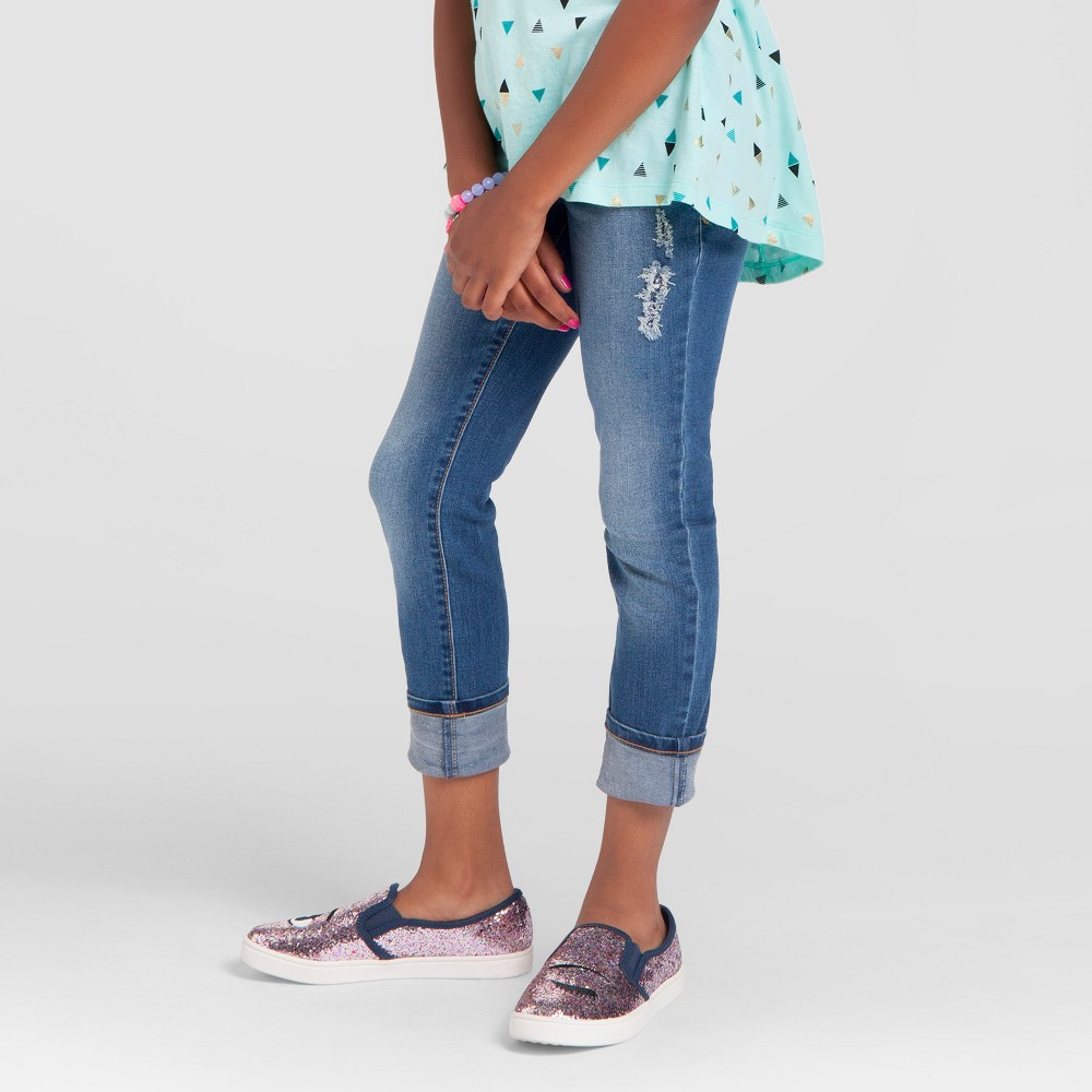 Plus Size Girls' Jeggings - Cat & Jack Medium Wash 14 Plus