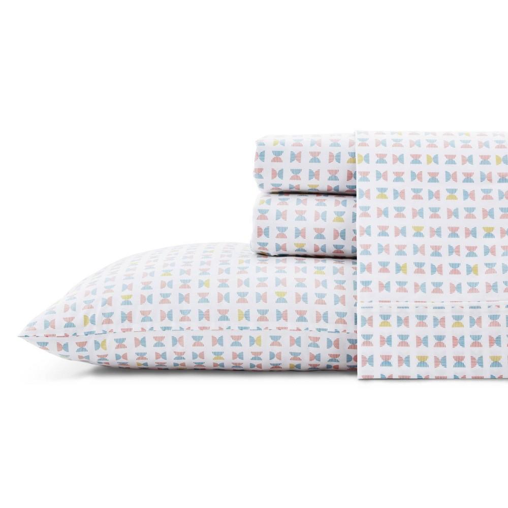 Image of Full Printed Pattern Cotton Sheet Set Geometric - Novogratz