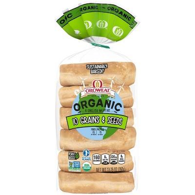 Oroweat Organic 12 Grains & Seeds English Muffins - 13.75oz