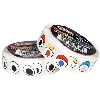 Creativity Street Flat Wiggle Eye Sticker, 10 mm, Black, pk of 1000