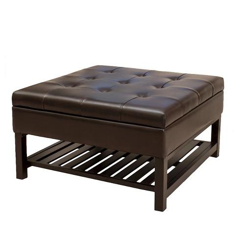 Pleasant Miriam Wood Storage Ottoman Brown Christopher Knight Home Machost Co Dining Chair Design Ideas Machostcouk