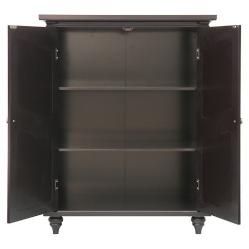 7e3df5588ff Elegant Home Fashions Versailles Floor Cabinet With 2 Doors - Dark ...