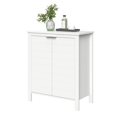 Modern Double Door Cabinet White