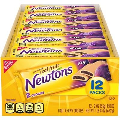 Newtons Fig Fruit Chewy Cookies - Snack Packs - 2oz/12ct