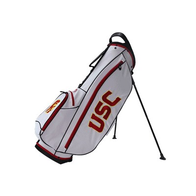 Bridgestone 2019 Collegiate University NCAA 9 In 4 Way Stand Lightweight Golf Bag with Carry Handle, USC