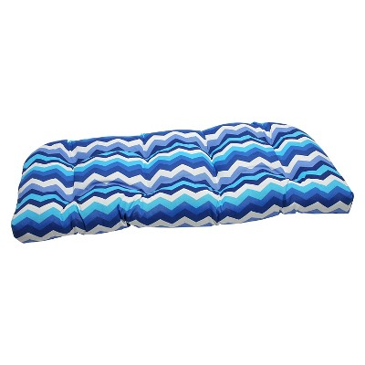 Outdoor Seat Pillow Perfect Cushion - Blue/Off-White