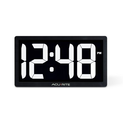 "AcuRite 10"" Digital Led Table Clock White"