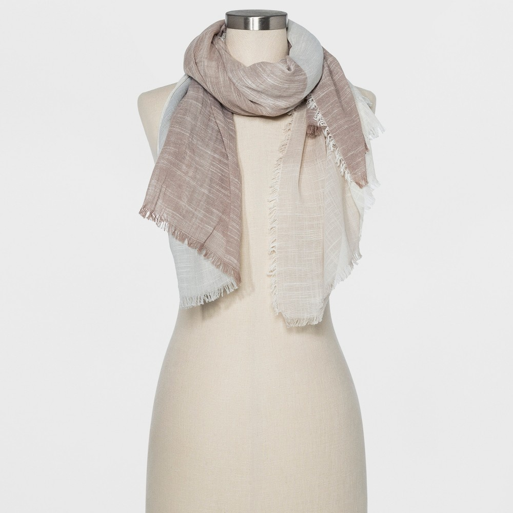Women's Oversize Rectangle Scarf - Universal Thread Oatmeal, Gray