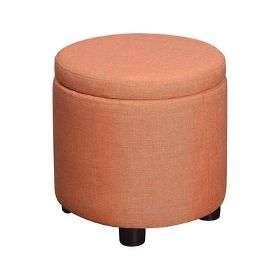 Designs4Comfort Round Accent Storage Ottoman - Breighton Home