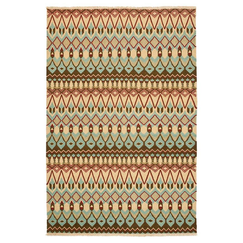 Geometric Woven Area Rug - (9'X12') - Safavieh, Multi-Colored