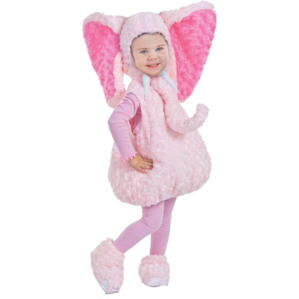 Image of Halloween Girls' Pink Elephant Toddler Costume 18-24 Months M, Girl's, MultiColored
