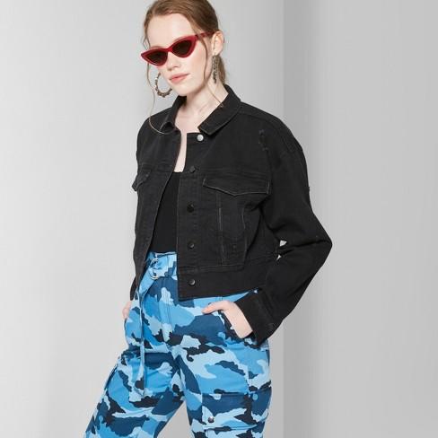 18d84f4f428 Women s Denim Jacket - Wild Fable™ Black Wash...   Target