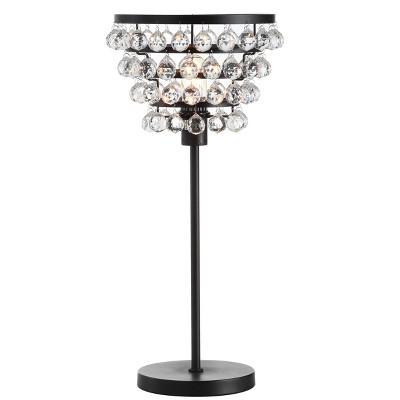 "25"" Crystal/Metal Buckingham Table Lamp (Includes Energy Efficient Light Bulb) - JONATHAN Y"