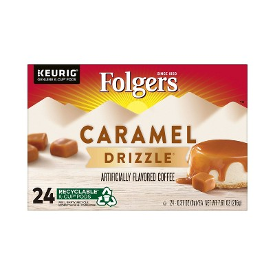 Folgers Caramel Drizzle Dark Roast Coffee Pods - 24ct