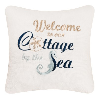 C&F Home Welcome to Our Cottage By The Sea Decorative Accent Pillow