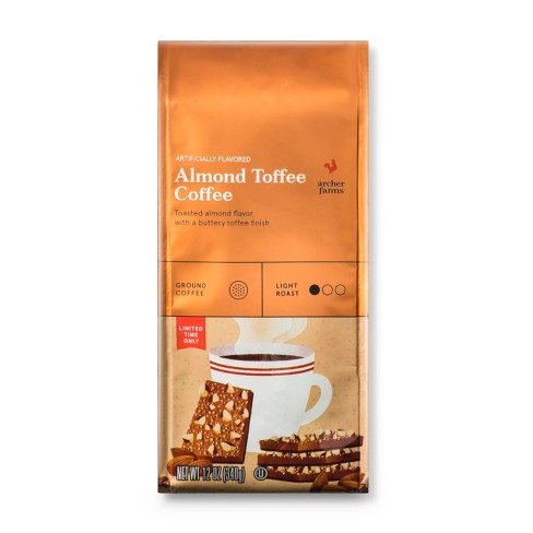 Almond Toffee Light Roast Ground Coffee - 12oz - Archer Farms™ - image 1 of 3