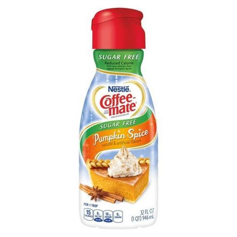 Coffee Mate Sugar Free Pumpkin Spice Coffee Creamer - 32 fl oz - image 1 of 3