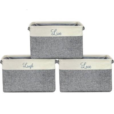 Sorbus 3pk Twill Storage Basket Set