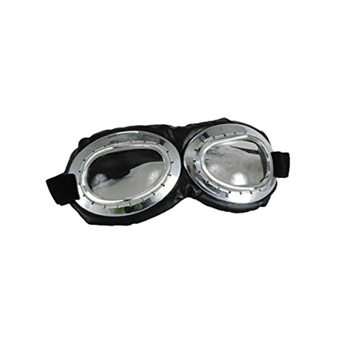 Elope Aviator Goggle Silver & Black Adult Costume Accessory - image 1 of 1
