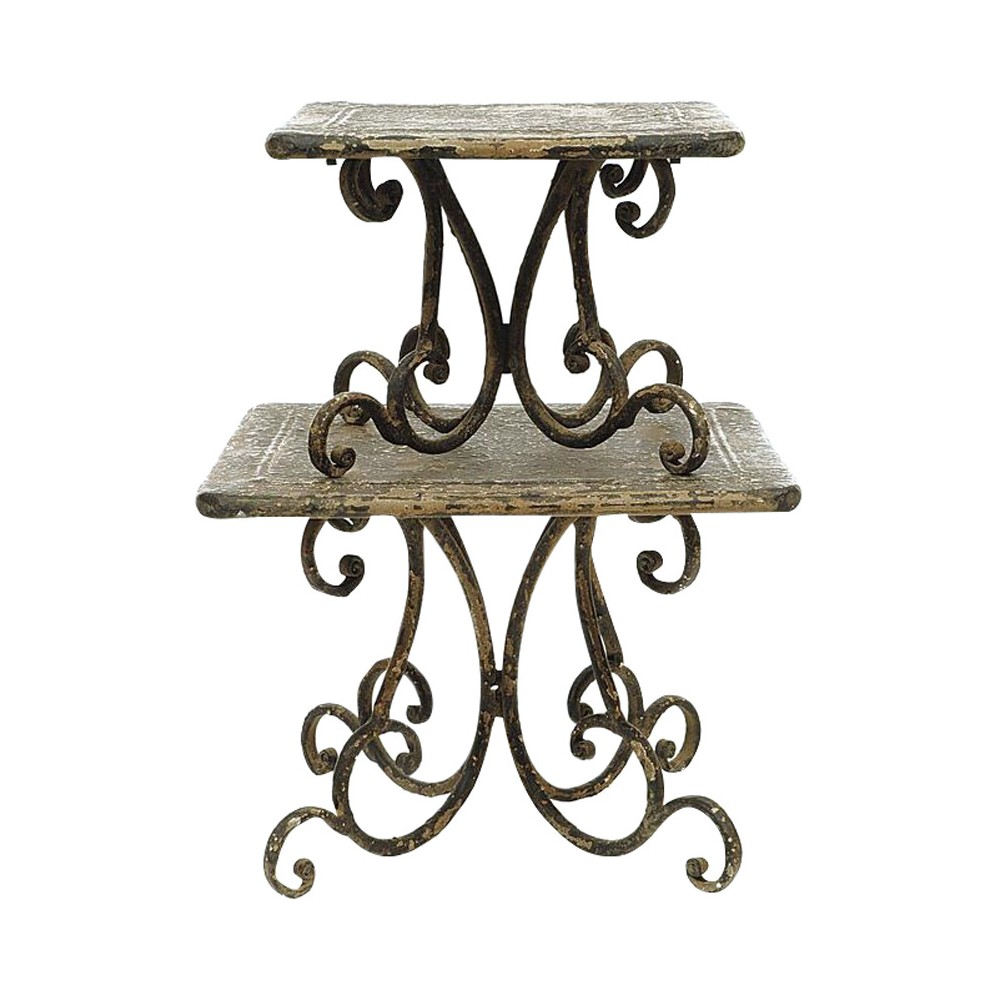 Image of Pedestal Table Black/Brown 2pk - 3R Studios