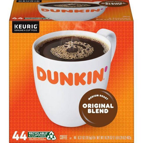 Dunkin' Original Blend, Medium Roast Coffee, Keurig K-Cup Pods - 44ct - image 1 of 4