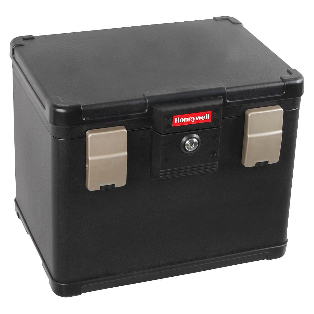 Image of 0.6 Cu. Ft. Letter & A4 Size Waterproof 30 Min. Fire File Chest, Black