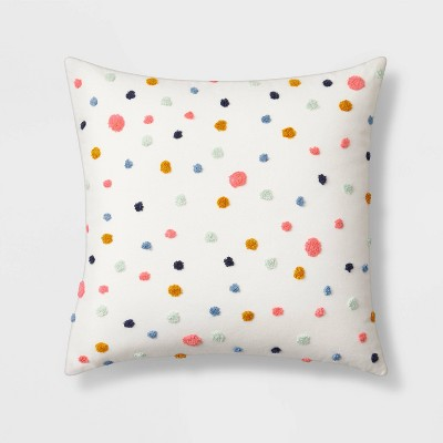 Square Embroidered Dot Throw Pillow - Pillowfort™