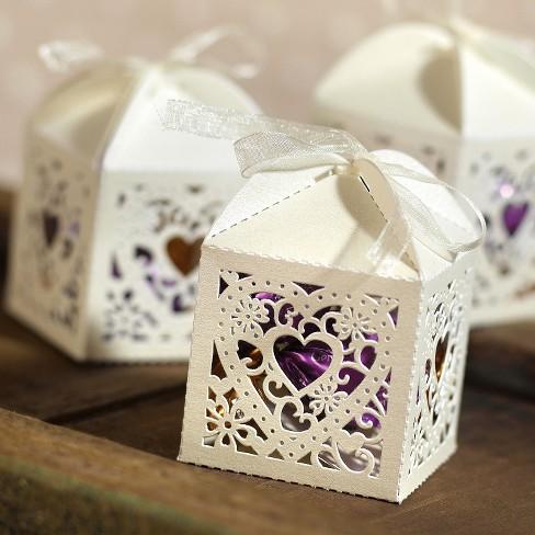 25ct Square Die Cut Wedding Favor Boxes Target