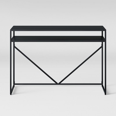 Glasgow Metal Writing Desk with Storage Black - Project 62™