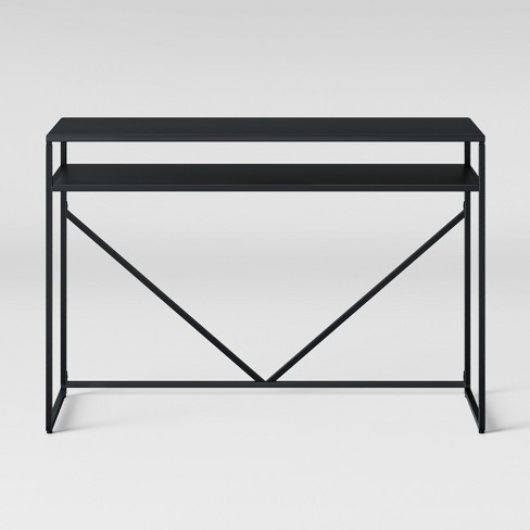 Glasgow Metal Writing Desk with Storage Black - Project 62™ - image 1 of 4