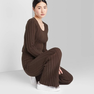 Women's Sweater Knit Flare Pants - Wild Fable™