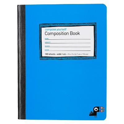 Composition Notebook Wide Ruled 100 Sheets - Yoobi™