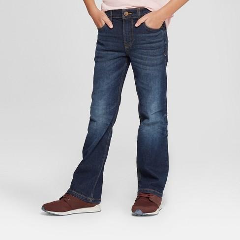 9cfa18372d5 Boys' Bootcut Fit Jeans - Cat & Jack™ Dark Blue : Target