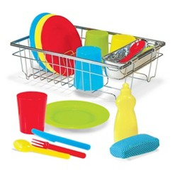 Melissa & Doug Let's Play House Wash and Dry Dish Set (24pc)