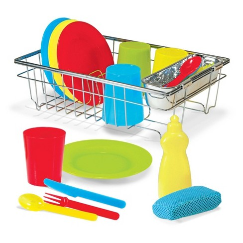 Melissa & Doug Let's Play House Wash and Dry Dish Set (24pc) - image 1 of 4