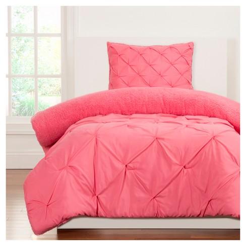Crayola Playful Plush Pink Comforter Set Twin 2pc