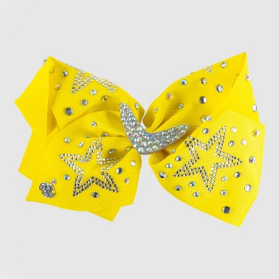 Girls' JoJo Siwa Sequin Stars Bow Hair Clip - Yellow
