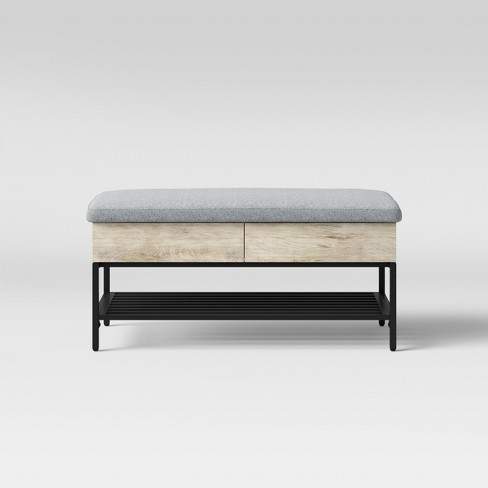 Amazing Loring Storage Bench Vintage Oak Project 62 Short Links Chair Design For Home Short Linksinfo