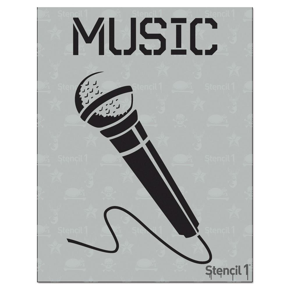 Stencil1 Microphone Stencil 8 5 34 X 11 34