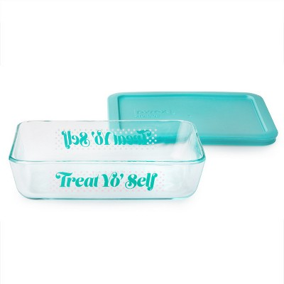 Pyrex 3 cup Food Storage Container Turquoise