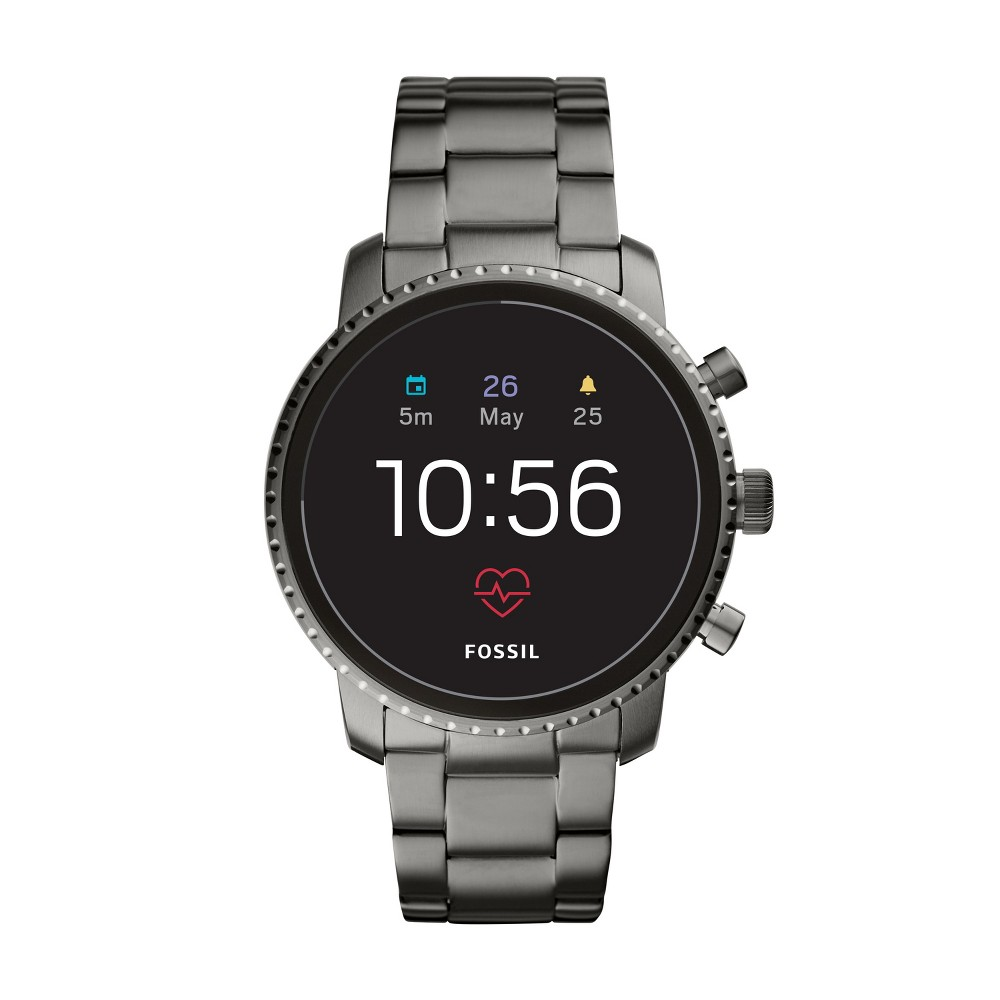 Fossil Gen 4 Smartwatch - Explorist HR 45mm Smoke Stainless Steel was $275.0 now $129.0 (53.0% off)