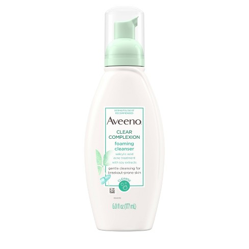 Aveeno Clear Complexion Foaming Cleanser- 6 fl oz - image 1 of 4