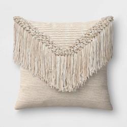 Macrame Outdoor Throw Pillow Natural - Opalhouse™