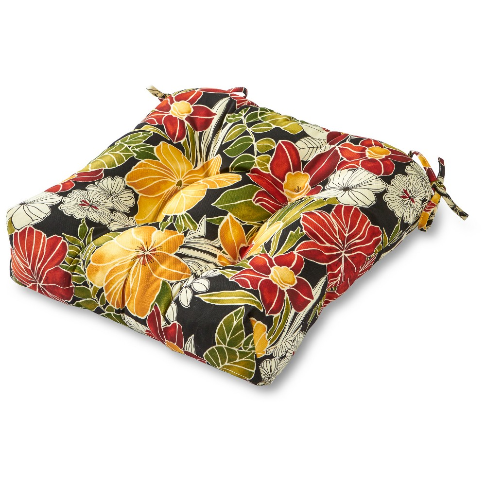 Image of Greendale Home Fashions 20 Outdoor Chair Cushion - Aloha Black