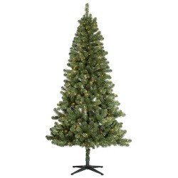 7ft Pre-lit Artificial Christmas Tree Alberta Spruce Clear Lights - Wondershop™