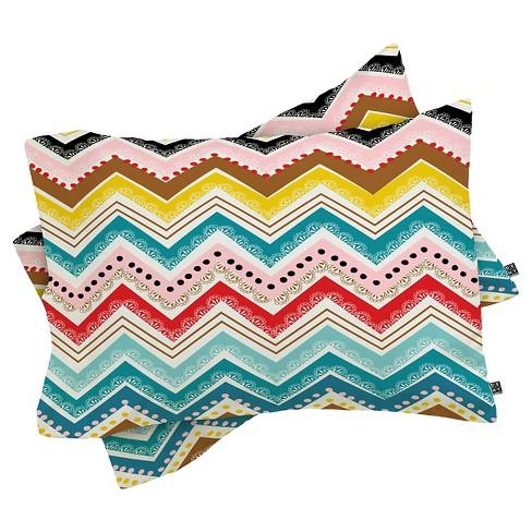 Khristian A Howell Nolita Chevrons Lightweight Pillowcase Standard Blue - Deny Designs - image 1 of 1
