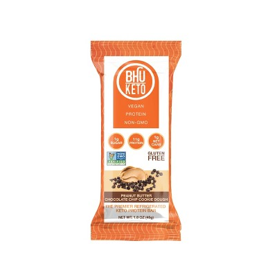 BHU Keto Peanut Butter Chocolate Cookie Dough Bar - 1.6oz